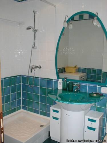 Интерьер ванной комнаты совмещенной с туалетом 4
